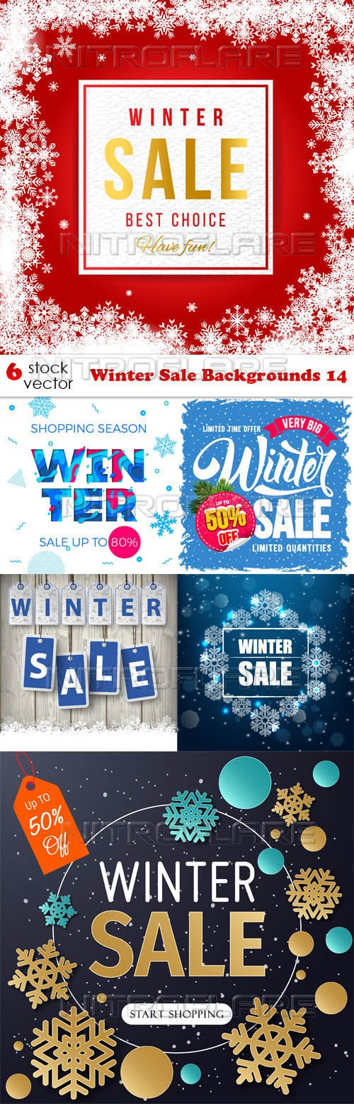 Vectors - Winter Sale Backgrounds 14