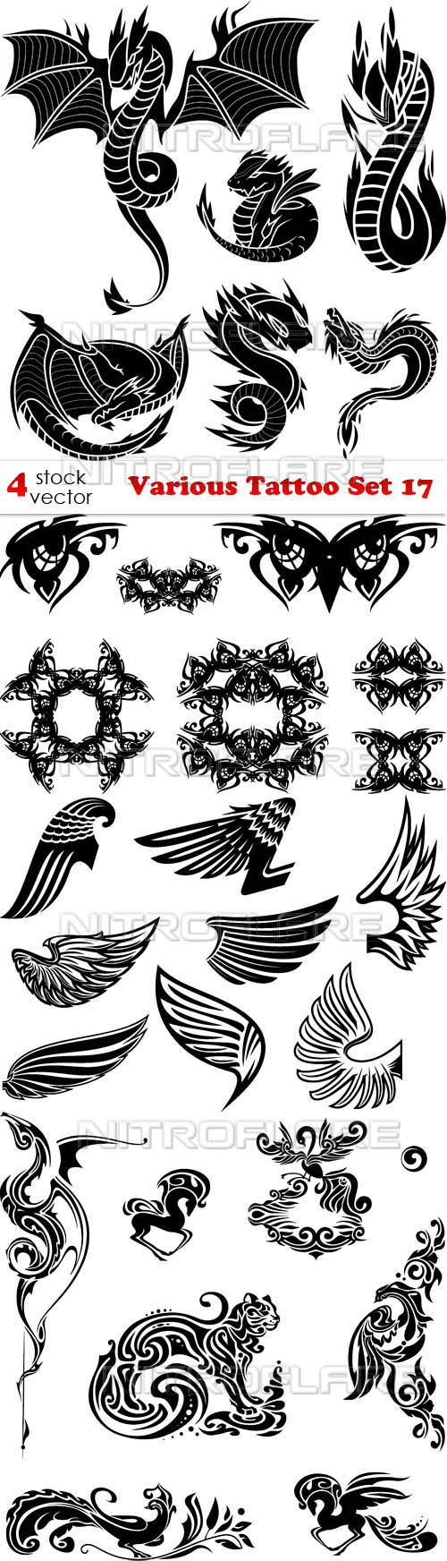 Vectors - Various Tattoo Set 17