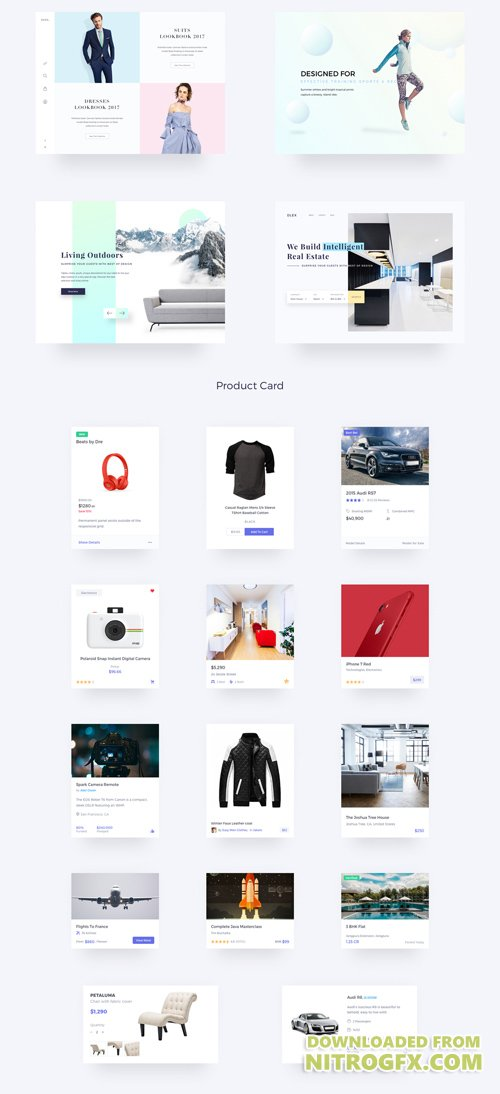 Ultimate Dlex eCommerce UI Kit - 400 Advanced eCommerce Components