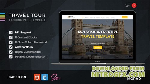 ThemeForest - Travel Tour v1.0 - Travel, Tourism & Agency HTML Landing Page - 18066900