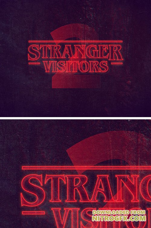PSD Text Style - Stranger Things