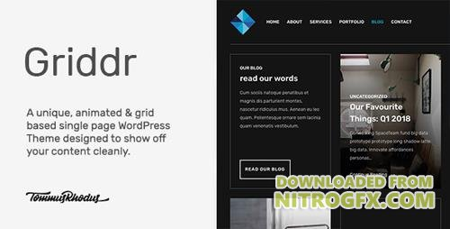 ThemeForest - Griddr v1.0 - Animated Grid Creative WordPress Theme - 21104714