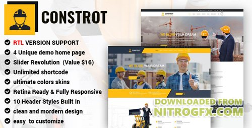ThemeForest - Construction v1.0 - Construction Template for Architect and Construction - 20570880