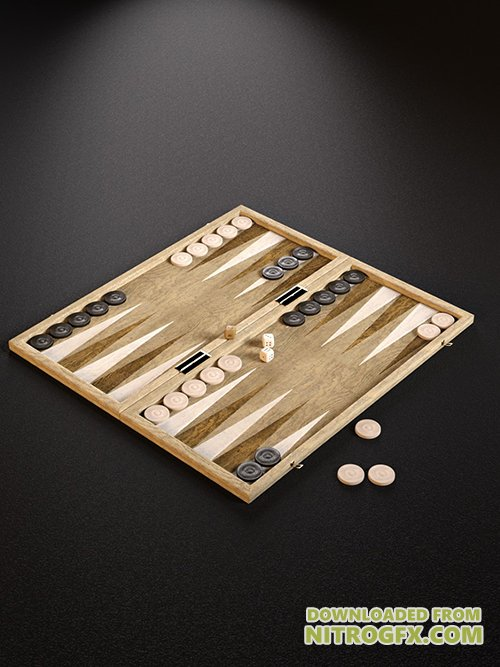 Checkers and Backgammon Games