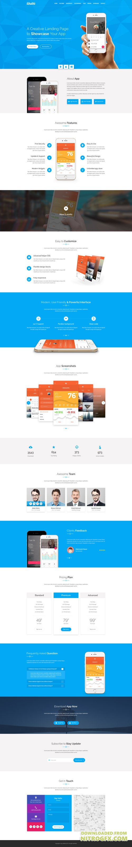 PSD Web Template - AppsPress - Landing Page Theme