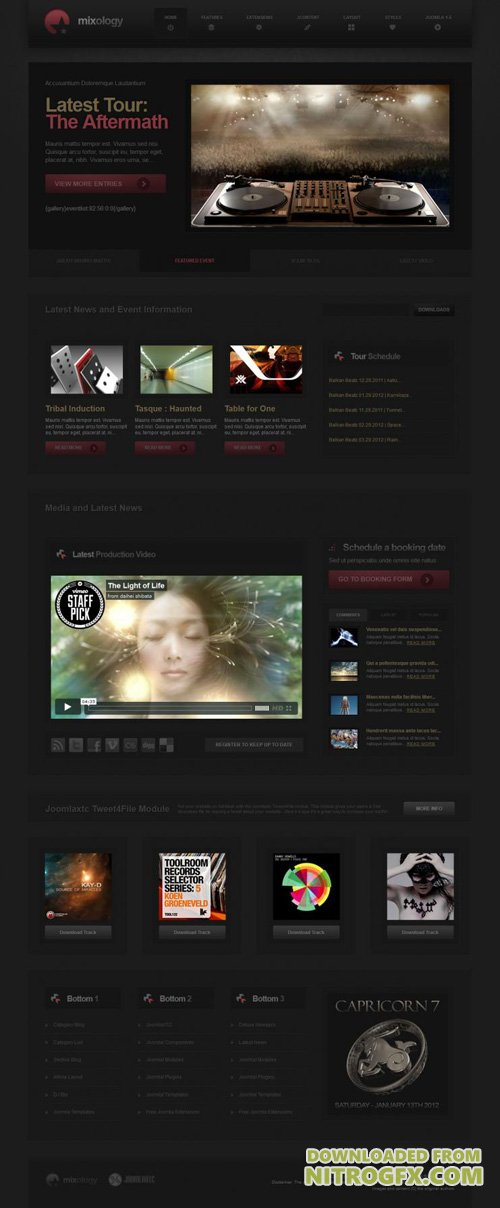 JoomlaXTC - Mixology v1.2.0 - Joomla Template Designed For DJ's And Music Artists