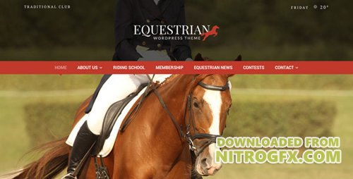 ThemeForest - Equestrian v4.4.1 - Horses and Stables WordPress Theme - 5206121