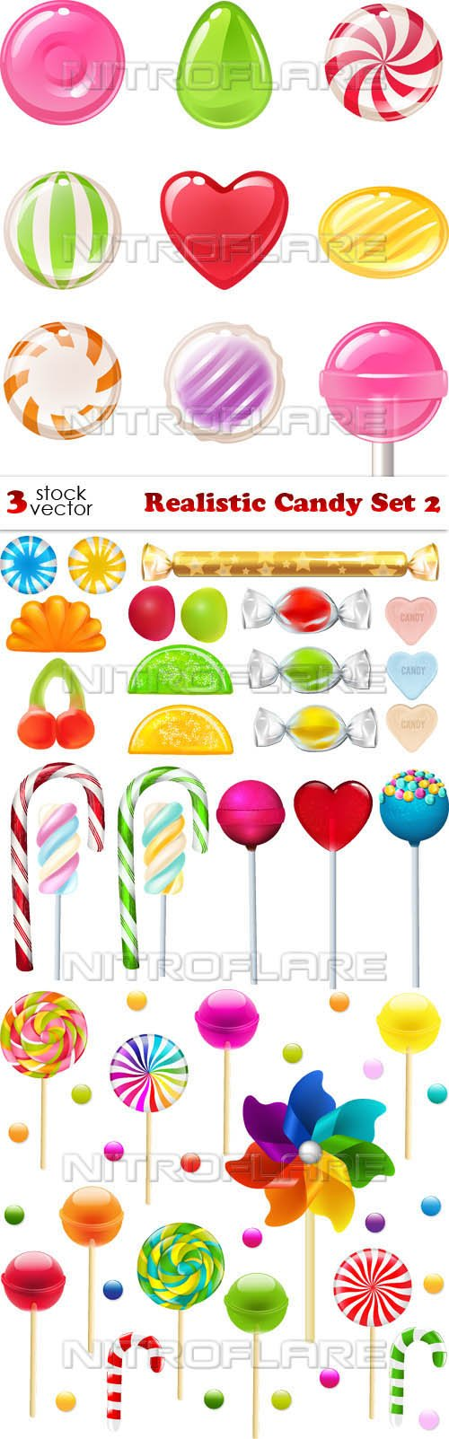 Vectors - Realistic Candy Set 2