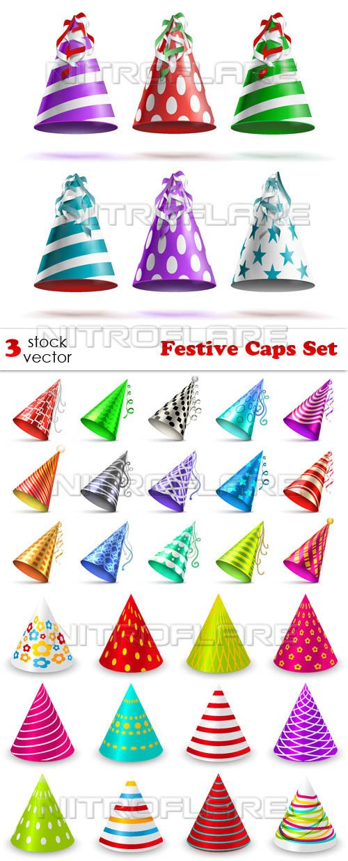 Vectors - Festive Caps Set