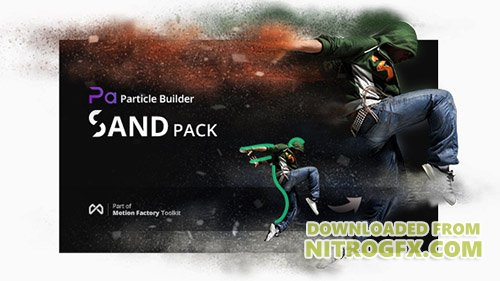 Particle Builder | Sand Pack: Dust Sand Storm Disintegration Effect Vfx Generator - Preset for After Effects (Videohive)
