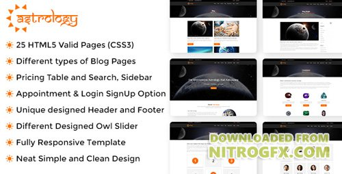 ThemeForest - Astrology v1.0.1 - Site Template - 20474820