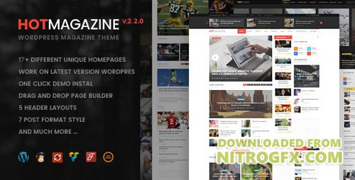 ThemeForest - Hotmagazine v2.2.1 - News & Magazine WordPress Theme - 14747026