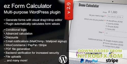 CodeCanyon - ez Form Calculator v2.9.9.6 - WordPress plugin - 7595334