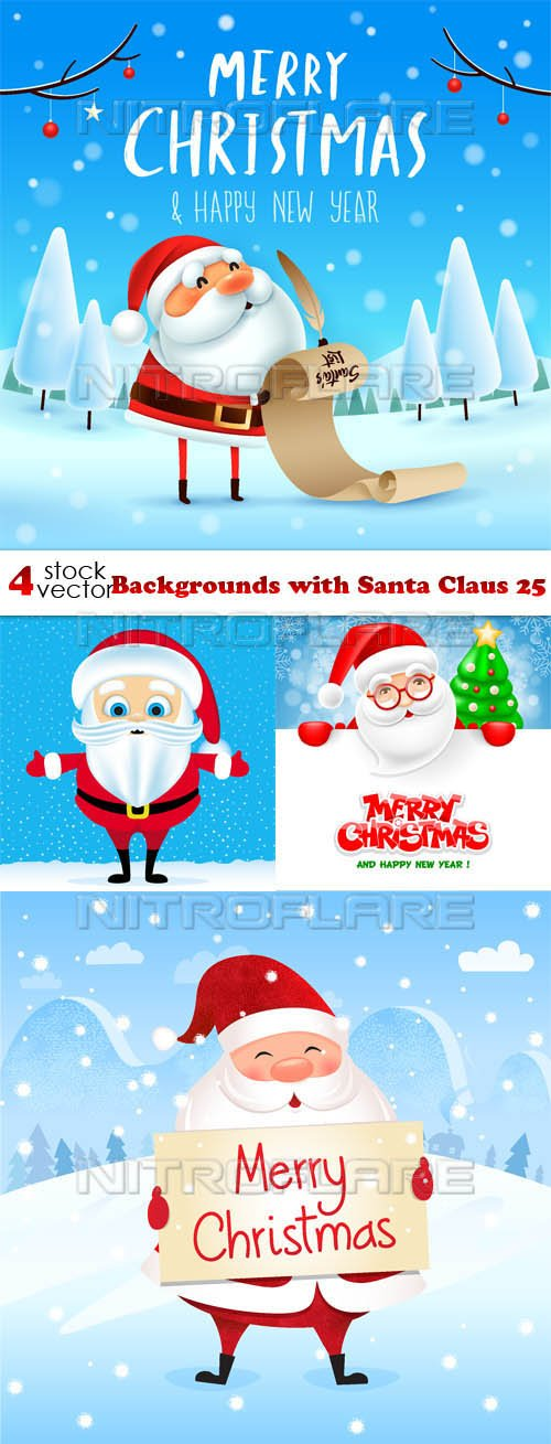 Vectors - Backgrounds with Santa Claus 26