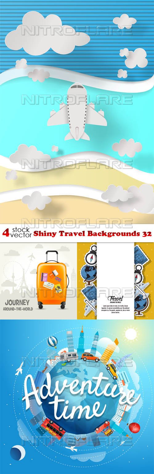 Vectors - Shiny Travel Backgrounds 32