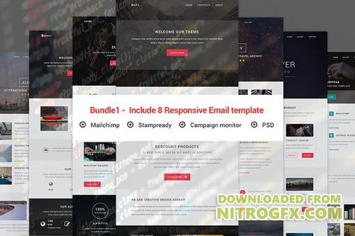 Bundle1 - Include 8 Responsive email - CM 1307405