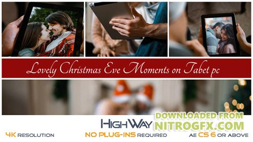 Lovely Christmas Eve Moments on Tablet PC - Project for After Effects (Videohive)