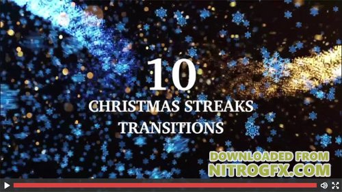MotionArray - 10 Light Streaks Christmas Transitions -  53711