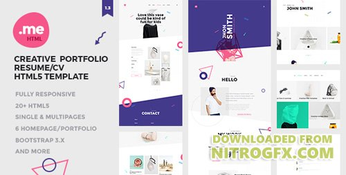 ThemeForest - Me v1.3 - Creative Portfolio & Resume / CV HTML5 Template - 18456592