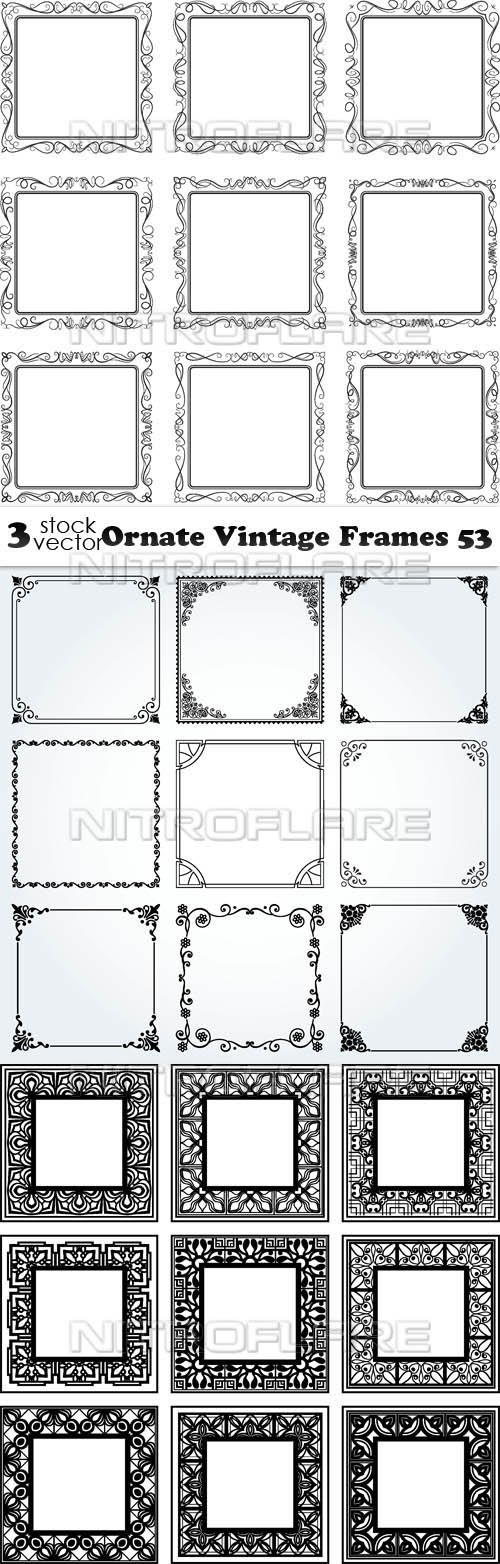 Vectors - Ornate Vintage Frames 53