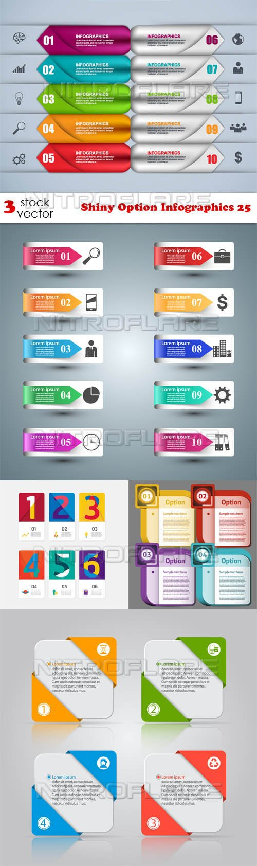 Vectors - Shiny Option Infographics 25