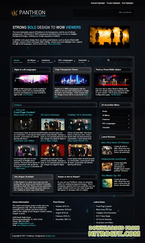 Shape5 - Pantheon v1.0 - WordPress Theme