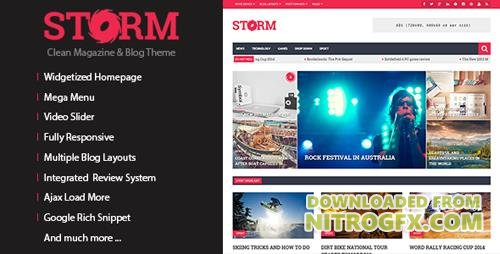 ThemeForest - Storm v1.3.2 - Clean Magazine & Blog Theme - 7432144