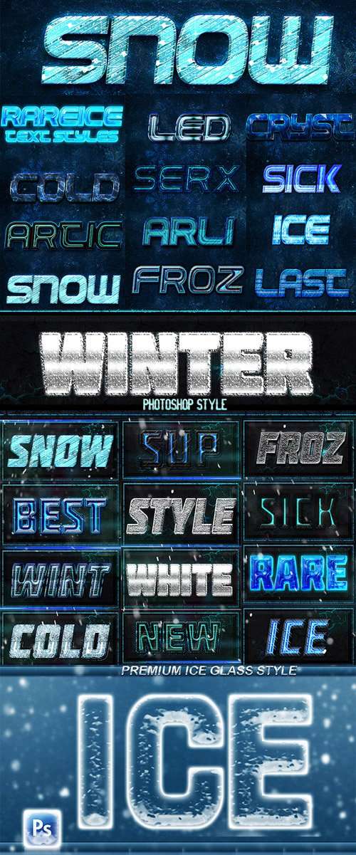 Winter Season Styles for Photoshop