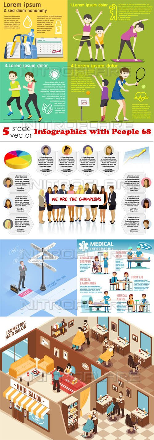 Vectors - Infographics with People 68