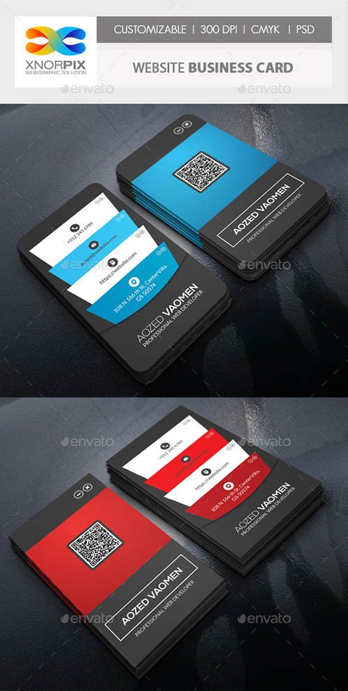 GraphicRiver - Website Business Card 21148904