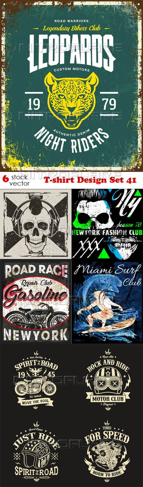 Vectors - T-shirt Design Set 41