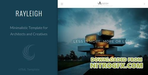 ThemeForest - Rayleigh v1.0 - A Responsive Minimal Architect Template - 7245889