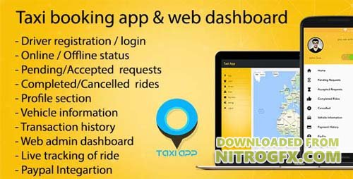 CodeCanyon - Taxi booking app & web dashboard v1.7 , complete solution - 20006588