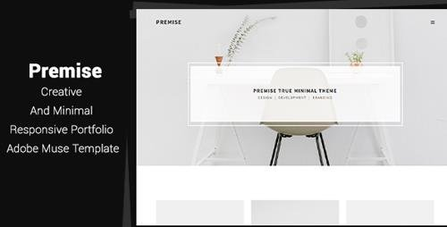 pr portfolio template - themeforest premise v1 0 creative and minimal
