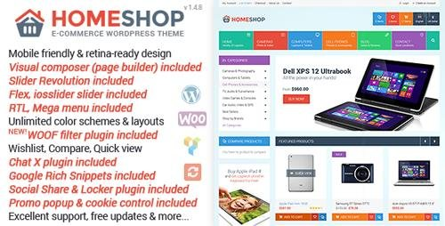 ThemeForest - Home Shop v1.4.8 - WooCommerce Theme - 9513996
