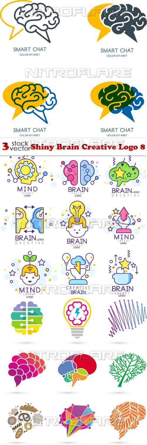 Vectors - Shiny Brain Creative Logo 8