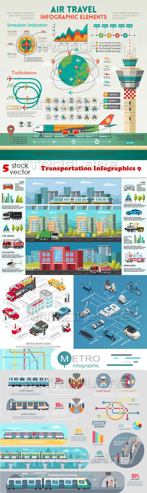 Vectors - Transportation Infographics 9