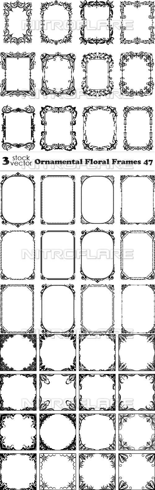 Vectors - Ornamental Floral Frames 47