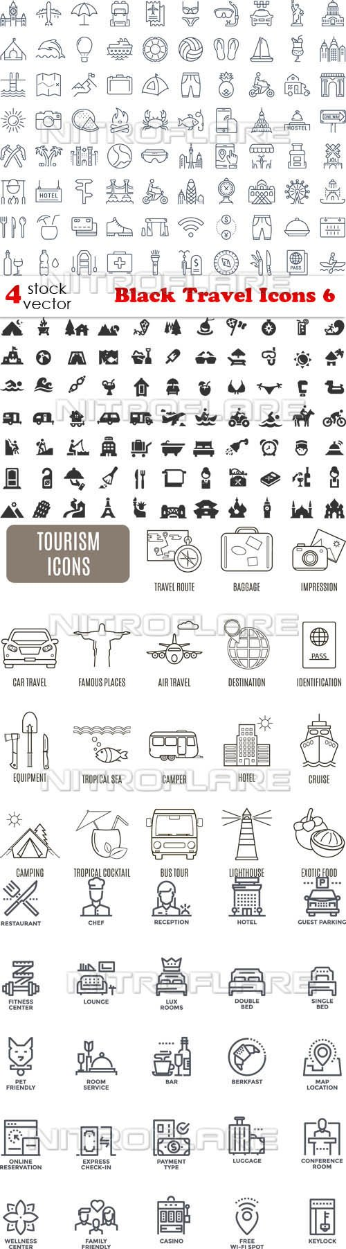 Vectors - Black Travel Icons 6