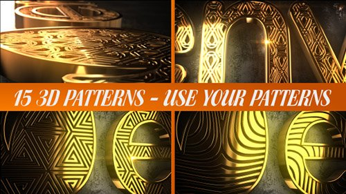Glaring Pattern Maker Logo Reveal - Project for After Effects (Videohive)