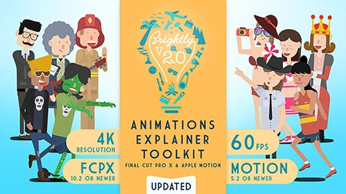 Brightly | Animations Explainer Toolkit - Final Cut Pro X & Apple Motion (Videohive)