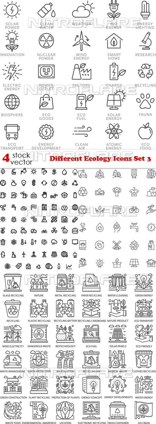 Vectors - Different Ecology Icons Set 3