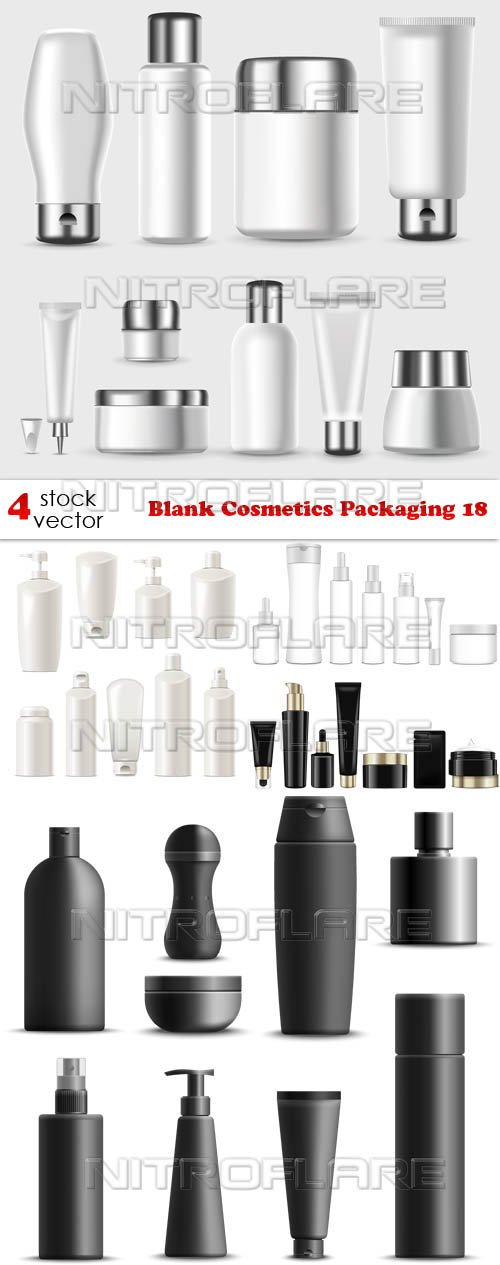 Vectors - Blank Cosmetics Packaging 18