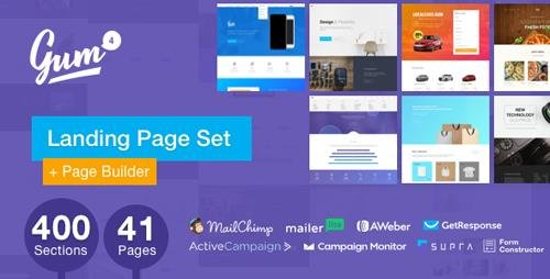 ThemeForest - Gum v4.6.3 - Landing Page Set with Page Builder - 17662160