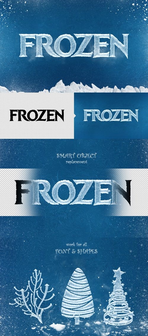 Ice Cool Text Effects - Frozen Photoshop Styles