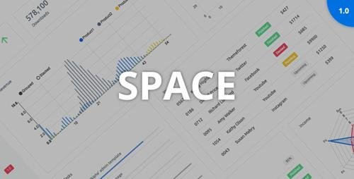 ThemeForest - Space v1.0 - Responsive Admin Dashboard Template - 21001607