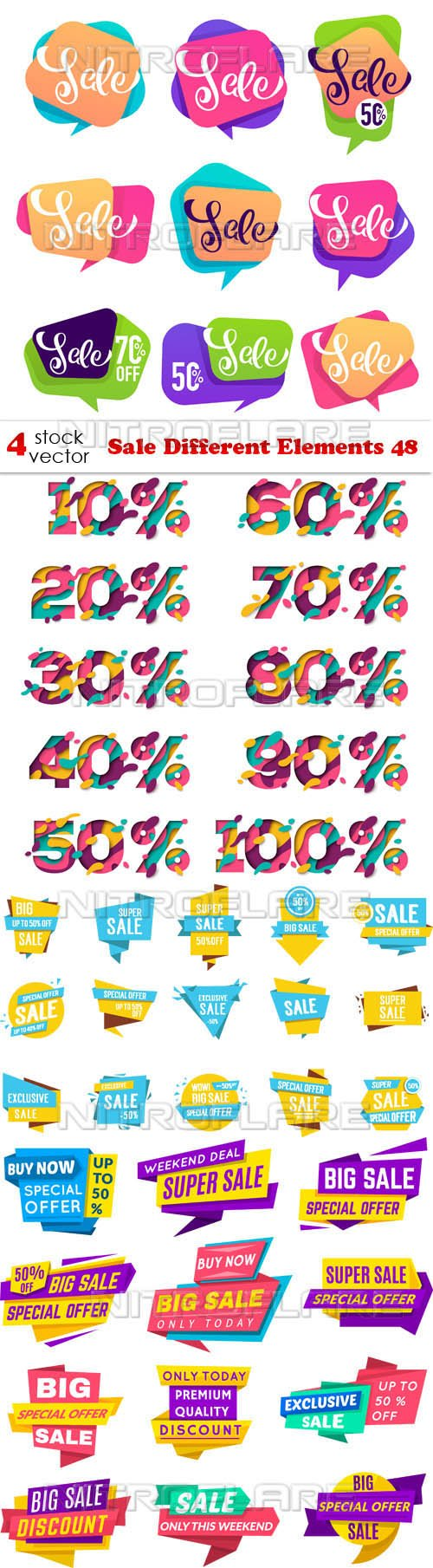 Vectors - Sale Different Elements 48