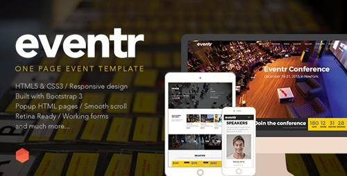 ThemeForest - Eventr - One Page Event Template (Update: 7 August 15) - 11890210