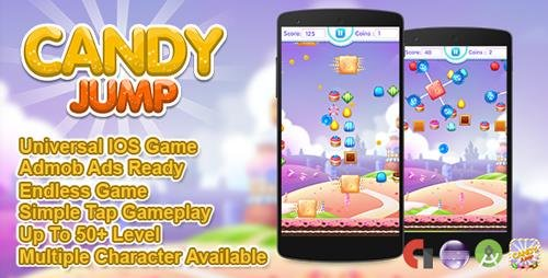 CodeCanyon - Candy Jump v1.0 - IOS XCODE Source Admob + Multiple Characters - 19762758