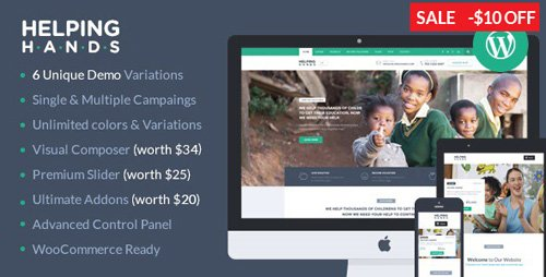 ThemeForest - HelpingHands v2.5 - Charity, Fundraising, Church, NGO, Non Profit WordPress Theme - 12832860
